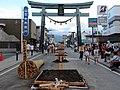 Yoshida Fire Festival to be prepared on Kanadorii.JPG