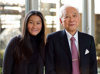 The Japan Times - Yukiko Ogasawara, vice-chairperson of The Japan Times, with her father, Toshiaki Ogasawara, the publisher and chairperson of the newspaper and its parent company, Nifco, in November 2007. Toshiaki have become  the controlling shareholder of the Japan times since 1983. Yukiko inherited her father's position since 2016 after his death.