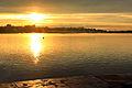 Zachód słońca na nabrzeżu Angary w Irkucku 10.JPG