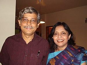 Muhammed Zafar Iqbal - Iqbal with his wife, Yasmeen Haque