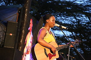 Zahara (South African musician) - Zahara performing in Nairobi, Kenya