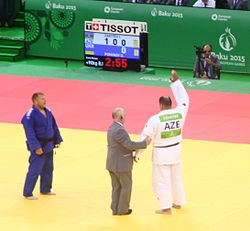 Zakiyev (AZE) vs Pominov (UKR) at the gold final of the 2015 European Games 5.jpg
