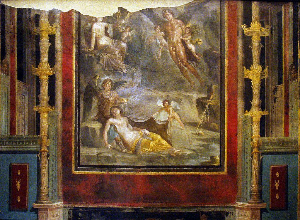 - Boda de Céfiro y Cloris - Cuarto estilo Pompeyano pintura romana