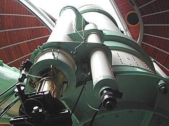 Merate Astronomical Observatory - Image: Zeiss di Merate principale e rifrattori