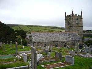 Zennor - Image: Zennor Church 2