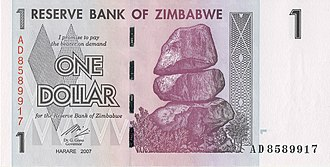 Balancing Rocks - Balancing Rocks depicted on Zimbabwean banknotes