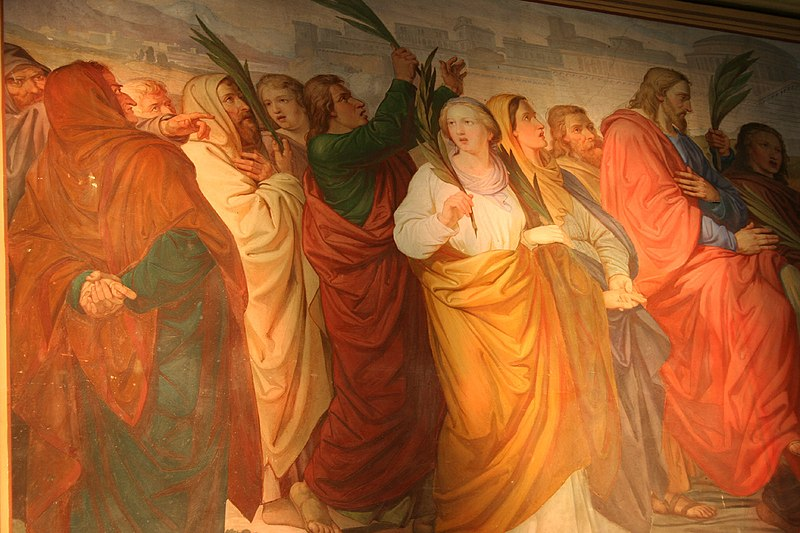 File:Zirl Parrish Church-Jesus entering Jerusalem 1.jpg