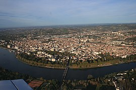 October 2008 aerial view of Vichy.