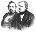 Zwei Redner aus dem österreichischen Abgeordnetenhause 1867 Illustrirte Zeitung.png