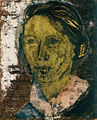 """Henny's teeth"" Goldfaced series, egg tempera, gold leaf on wood),sm24.7x20.jpg"