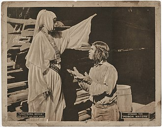 Steve Clemente - From serial Lightning Bryce (1919)   Jill Woodward and Steve Clemente