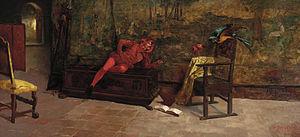 1887 in art - Image: 'A Fool's Fool' by Thomas Shields Clarke