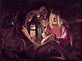 'Saint Sebastian Tended by Irene', attributed to Georges de La Tour, early 1630s, oil on canvas, Kimbell Art Museum.jpg
