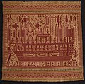 'Tampan' (ship cloth) from Lampung, Sumatra, Indonesia, 19th century, cotton with supplementary weft, Honolulu Academy of Arts.jpg