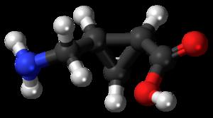 (+)-cis-2-Aminomethylcyclopropane carboxylic acid - Image: (+) CAMP 3D balls