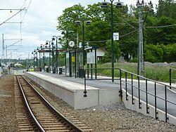 Hållplatsen Åkers Runö, 2010.