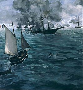 "Édouard Manet, French - The Battle of the U.S.S. ""Kearsarge"" and the C.S.S. ""Alabama"" - Google Art Project.jpg"