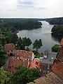 Łagów,widok na jezioro z wieży zamku joannitów.jpg