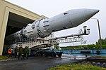 Вывоз и установка ракеты космического назначения «Ангара-1.2ПП» на стартовом комплексе космодрома Плесецк 02.jpg