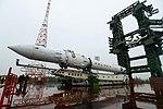 Вывоз и установка ракеты космического назначения «Ангара-1.2ПП» на стартовом комплексе космодрома Плесецк 08.jpg