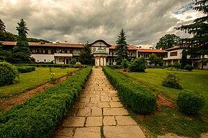 Sokolski Monastery - The yard with the fountain