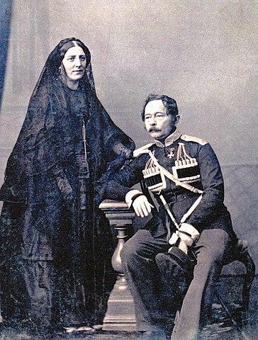 Муравьёв с женой Екатериной