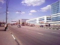 Каширское шоссе в районе платформы Москворечье, вид в центр (2011).jpg