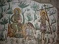 Праведни Авраам и прaведни (покајани) разбојник у рају, живопис у светој обитељи Грачаница, Србија.jpg