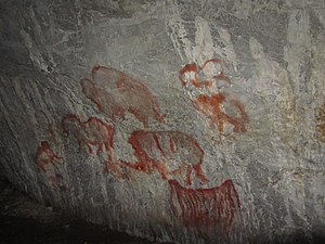 History of human settlement in the Ural Mountains - Kapova Cave paintings