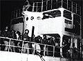 """אונית המעפילים """"התקוה"""" בחוף המולדת-JNF025232.jpeg"""