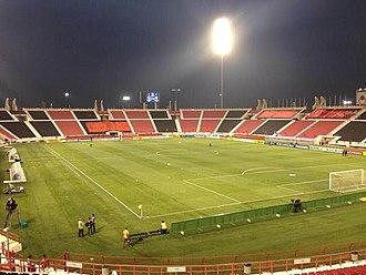 2022 FIFA World Cup - Image: ملعب أحمد بن علي قبل مباراة الريان ونادي الشباب السعودي في دوري آبطال آسيا