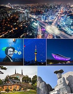 Daegu Metropolitan City in Yeongnam, South Korea