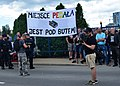 02019 0057 MW-Protesters chant Nazi slogan in Rzeszów - fag's place is under the boot!.jpg