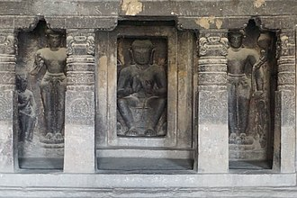Yajna Sri Satakarni - Image: 065 Cave 20, Buddha and Bodhisattvas (33584446680)