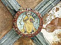 082 Sant Jeroni de la Murtra, galeria nord del claustre, clau de volta.JPG