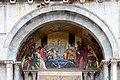 0 Venise, 'Le doge et les vénitiens accueillant le corps de St Marc' - Basilique St-Marc.JPG