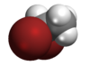 Spacefill model of 1,1-dibromoethane
