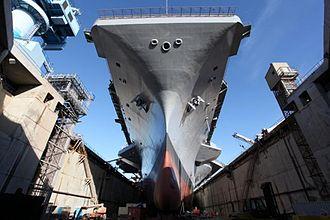 USS Harry S. Truman - Dry-docked