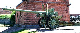 122 mm gun M1931 (A-19) - M1931 displayed in Hämeenlinna Artillery Museum, Finland