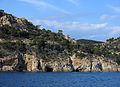 134 Coves de Cala Bona i sa Gatera, al fons les cases de la Pola (Tossa de Mar).JPG