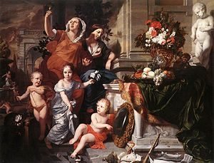 1668 in art - Image: 1668 Gérard de Lairesse Allegory of the Five Senses