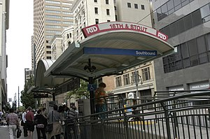 16th & California and 16th & Stout stations - Image: 16th stout rtd