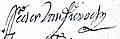 1722 nov. 21 not Pilloy sign Pierre Van Dievoet.jpg