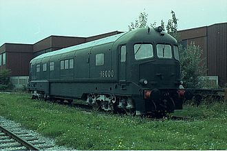 British Rail 18000 - 18000 at Vienna in 1989
