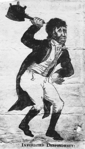 James Akin - Image: 1805 Infuriated Despondency by James Akin Newburyport MA Worcester Art Museum