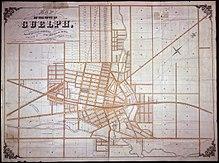 Guelph Wikipedia - Guelph map