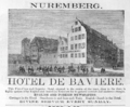 1885 Hotel Baviere Nuremberg ad Harpers Handbook for Travellers in Europe.png