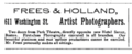 1896 Frees and Holland photographers advert 611 Washington Street in Boston.png