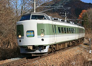 Myōkō (train) - 189 series EMU on a Myōkō rapid service, November 2008