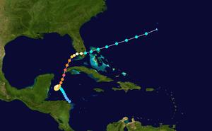 1924 Cuba hurricane - Image: 1924 Atlantic hurricane 10 track